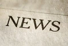 Header for News on textured paper Royalty Free Stock Photography