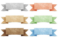 Header origami tag recycled paper Stock Images