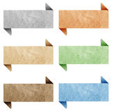 Header origami tag recycled paper Royalty Free Stock Image
