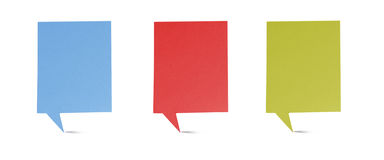 Header origami tag recycled paper craft stick. On white background Royalty Free Stock Photos