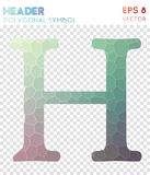 Header polygonal symbol. Appealing mosaic style symbol. delicate low poly style. Modern design. header icon for infographics or presentation Royalty Free Stock Photography