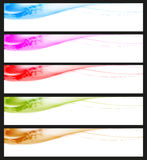 Header Set. Eight banners on different themes, multi-coloured Vector Illustration