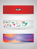 Header set 6. Vector abstract header set for any use royalty free illustration