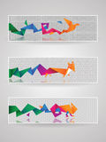 Header set 7. Vector abstract header set for any use stock illustration