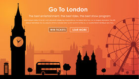 Header Template London scenery Royalty Free Stock Photo
