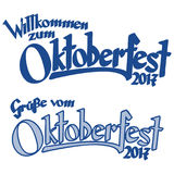 Header with text Oktoberfest 2017 Stock Image