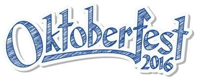 Header with text Oktoberfest 2016 Stock Photography
