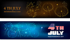 Header for 4th of July Stock Photography
