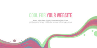 Header website abstract background style wave. Vector illustration Stock Images