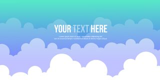 Header website cloud style design Royalty Free Stock Images