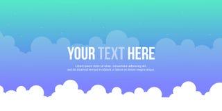 Header website cloud style design Royalty Free Stock Image