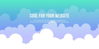 Header website cloud style design Royalty Free Stock Photography