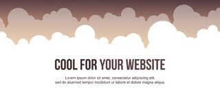 Header website design with cloud background. Vector illustration vector illustration