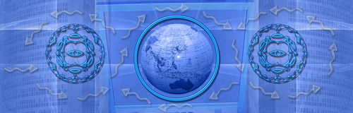 Header: World wide connections and internet Stock Image