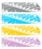 Headers or Banners. Four headers or banners with page curl at top-right corners. Good for website or other design use - isolated on white background Royalty Free Stock Images