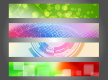 Headers collection for web Stock Photo