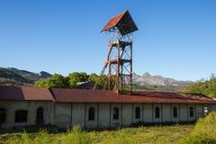 Headframe de la mina del hoyo Fotos de archivo libres de regalías