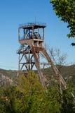 Headframe della miniera del pozzo Fotografia Stock Libera da Diritti