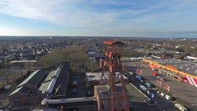 Headframe historyczna kopalnia węgla Rheinpreussen w słońcu zdjęcie wideo