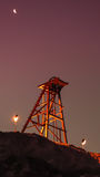 Headframe II. Old headframe corresponding to a mine in northern Chile Royalty Free Stock Photos