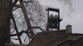 Headframe, kolenmijn stock videobeelden