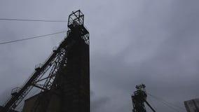 Headframe, kopalnia węgla zbiory