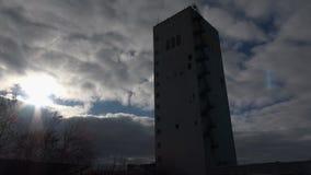 Headframe, mina de carbón almacen de metraje de vídeo