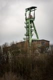 The headframe of Mine Georg in Willroth, Germany. The headframe of Mine Georg, a historic coal mine that was closed in 1965 in Willroth, Germany Stock Images
