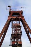 Headframe rouge Sainte Fontaine la Moselle photographie stock libre de droits