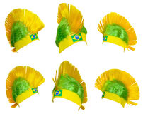 Headgear fan of the Brazilian national team Stock Photography