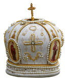 Headgear of the orthodox bishop. Solemn headgear of the orthodox bishop Royalty Free Stock Photos