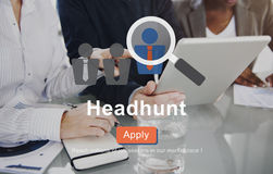 Headhunt Employment Application Job Concept Stock Photo