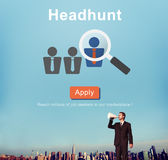 Headhunt Recruitment Scouting Hiring Employment Concept Royalty Free Stock Photo