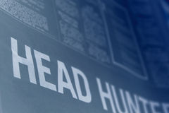 Headhunter. Employment section newspaper royalty free stock photography