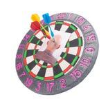 Headhunter - asunto concepts.darts Foto de archivo libre de regalías