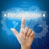 Headhunter, concep del negocio para los recursos humanos Fotos de archivo libres de regalías