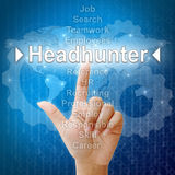 Headhunter, concep do negócio para recursos humanos Fotos de Stock Royalty Free