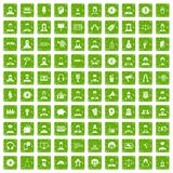 100 headhunter icons set grunge green. 100 headhunter icons set in grunge style green color isolated on white background vector illustration stock illustration