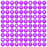 100 headhunter icons set purple. 100 headhunter icons set in purple circle isolated vector illustration stock illustration