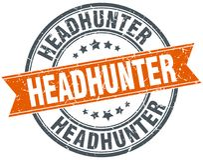 Headhunter znaczek royalty ilustracja