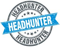 Headhunter znaczek ilustracja wektor