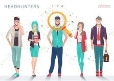 headhunters ilustração stock