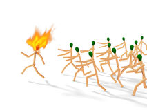 Headhunters. Abstract with matches on white stock illustration