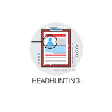 Headhunting Curriculum Vitae Document Resume CV Profile Icon. Vector Illustration Royalty Free Stock Photo