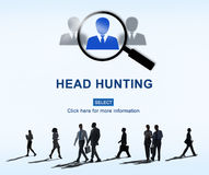 Headhunting Hiring Employment Occupation Jobs Concept Royalty Free Stock Images