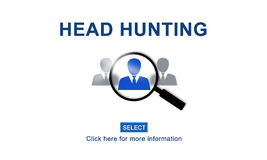 Headhunting Hiring Employment Occupation Jobs Concept. Employment Head HUnting Occupation Concept Stock Image