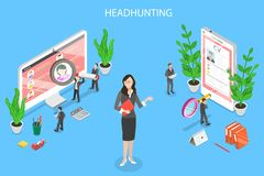 Headhunting and recruitment isometric flat vector concept. royalty free illustration