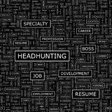HEADHUNTING. Seamless pattern. Word cloud illustration Stock Photo