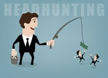 Headhunting. Vector illustration concepts for human resources management Stock Image