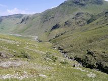 Heading down by Hell Gill, Oxendale Royalty Free Stock Photos